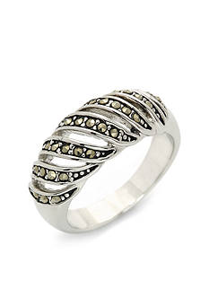 New Directions® Silver-Tone Crystal Swirl Boxed Ring