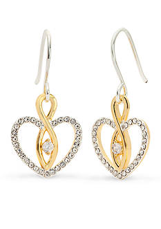 New Directions® Two-Tone Infinity Heart Drop Boxed Earrings