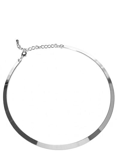 New Directions® Necklace - Silver Flat Collar
