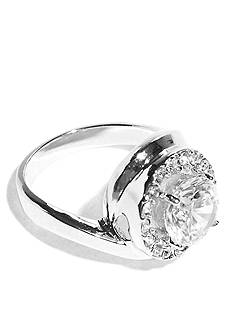 New Directions Cubic Zirconia Swirl Boxed Ring