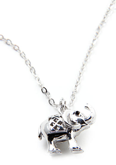 New Directions® Trumpeting Elephant Pendant Necklace