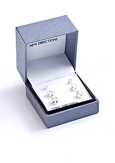 New Directions® Multi Shape Trio Boxed Earring Set