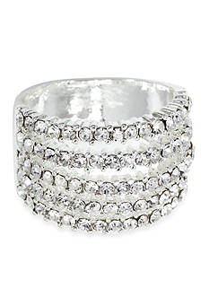 New Directions® Five Row Pave Boxed Ring