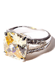 New Directions Jonquil and Pave Boxed Ring