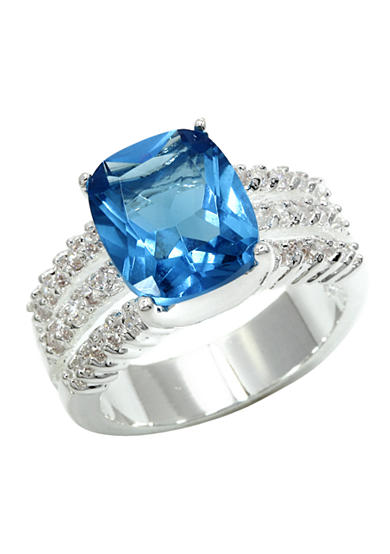 New Directions® Pave Sky Blue Ring