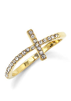 New Directions® Pave Cross Ring