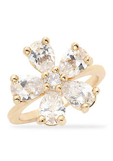 New Directions® Gold-Tone Cubic Zirconia Flower Boxed Ring