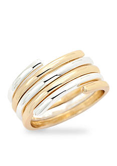 New Directions® Two-Tone Coil Boxed Ring