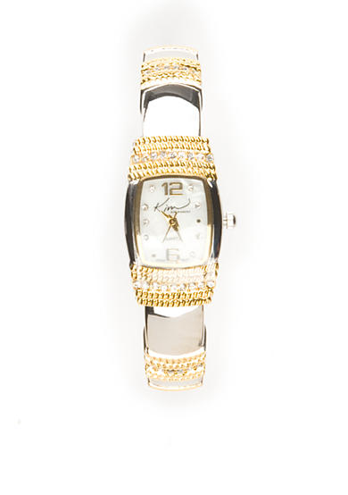 Kim Rogers® Women's Two Tone Bangle Watch