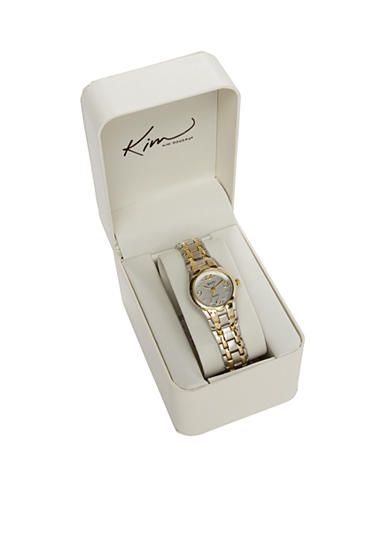 Kim Rogers® Women's Two-Tone Bracelet Watch