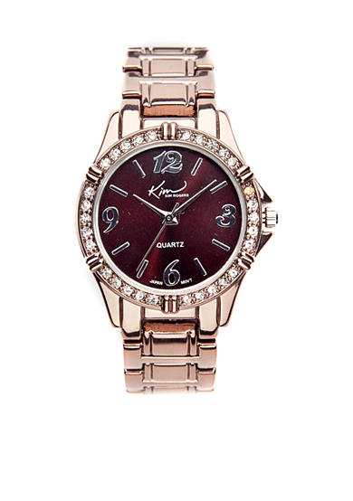 Kim Rogers® Watch - Small Chocolate Boyfriend Style