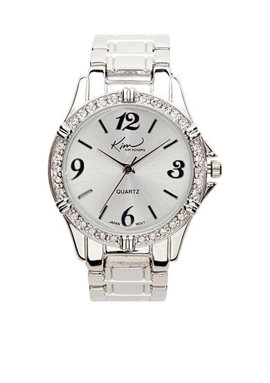 Kim Rogers® Small Silver Boyfriend-Style Watch