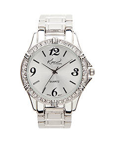 Kim Rogers Small Silver Boyfriend-Style Watch