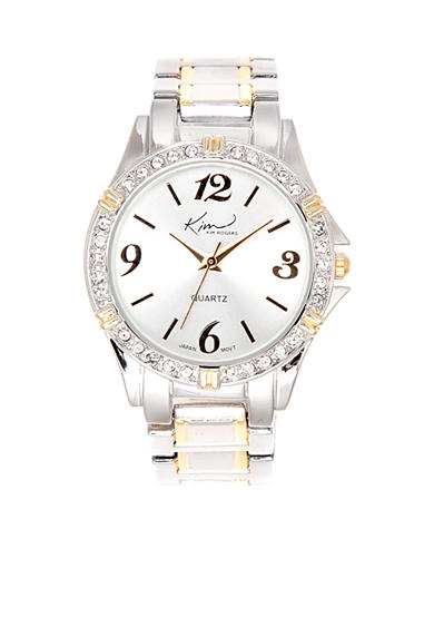 Kim Rogers® Two-Tone Silver Gold Watch