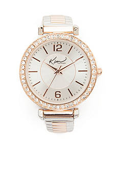 Kim Rogers® Women's Round Two-Tone Glitz Expansion Watch