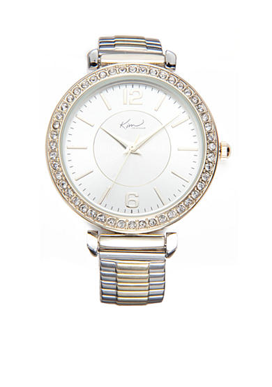Kim Rogers® Women's Round Two-Tone Expansion Bracelet Watch