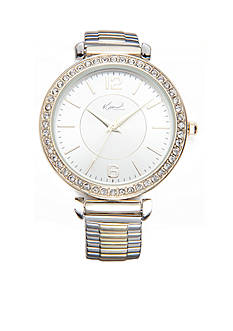 Kim Rogers Women's Round Two-Tone Expansion Bracelet Watch