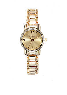 Kim Rogers Women's Gold Link Bracelet Watch