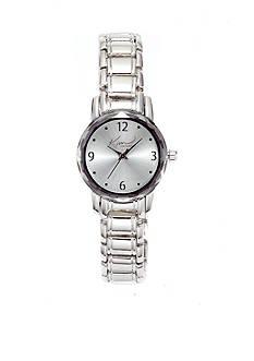 Kim Rogers® Women's Silver-Tone Link Bracelet Watch