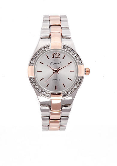 Kim Rogers® Women's Rose Gold and Silver-Tone Bracelet Watch