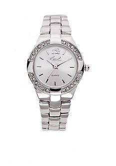 Kim Rogers® Women's Silver-Tone Bracelet Watch