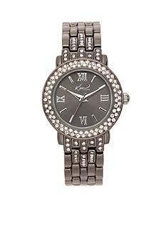 Kim Rogers Women's Round Gunmetal-Tone Bracelet Watch