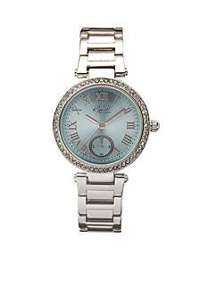 Kim Rogers® Women's Round Silver-Tone Bracelet Watch