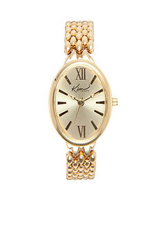 Kim Rogers Women's Oblong Gold Bracelet Watch