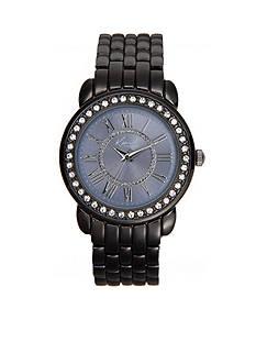 Kim Rogers Women's Round Gunmetal Glitz Bracelet Watch