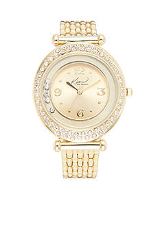 Kim Rogers Women's Gold-Tone Bracelet Watch