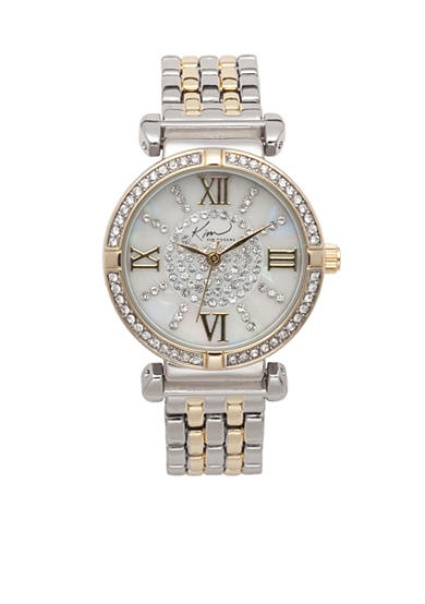 Kim Rogers® Women's Two Tone Embellished Bracelet Watch