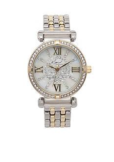 Kim Rogers Women's Two Tone Embellished Bracelet Watch