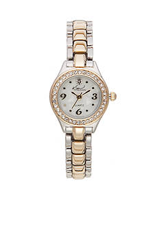Kim Rogers® Women's Two-Tone Adjustable Band Watch