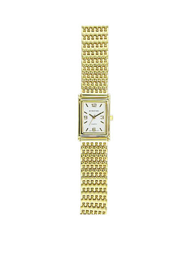 Kim Rogers® Women's Gold Mesh Link Watch