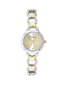 Kim Rogers Women's Two-Tone Heart Bracelet Watch