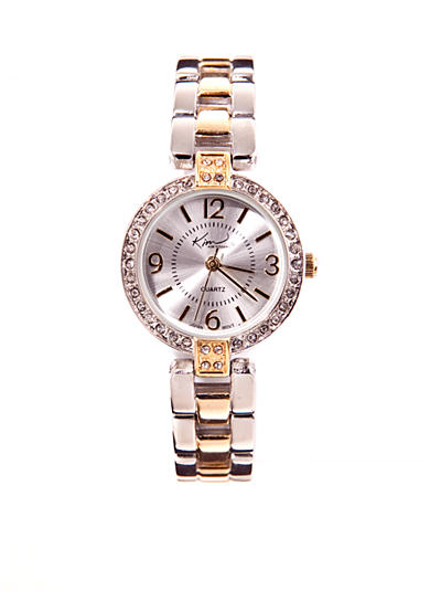 Kim Rogers® Round Two-Tone Link Watch