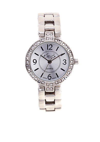 Kim Rogers® Silver-Tone Link Watch