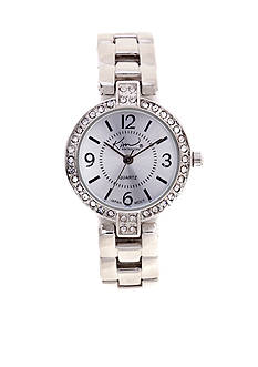 Kim Rogers Silver-Tone Link Watch