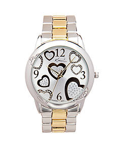 Kim Rogers Women's Two-Tone Heart Watch