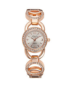 Kim Rogers Women's Circular Glitz Rose Gold-Tone Watch