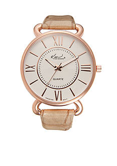 Kim Rogers Women's Tan Crocco Strap Watch