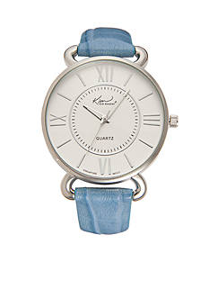 Kim Rogers Women's Blue Crocco Strap Watch