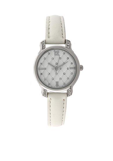 Kim Rogers® Women's Quilted White Watch