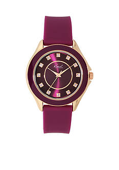 Kim Rogers Gold-Tone A Classic Time Silicon Strap Watch