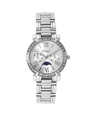 Kim Rogers® Silver-Tone A Classic Time Bracelet with Moon Dial