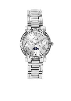 Kim Rogers Silver-Tone A Classic Time Bracelet with Moon Dial