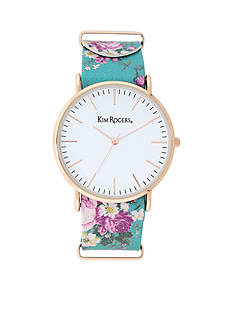 Kim Rogers Women's Turquoise Floral Watch