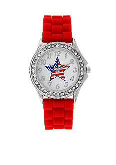 Kim Rogers® American - Star Dial Red Strap