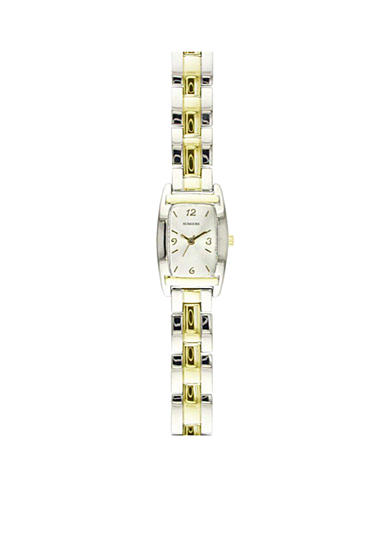 Kim Rogers® Women's Two-Tone Rectangular Watch
