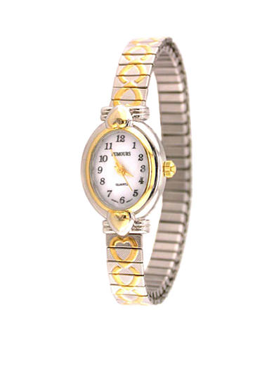 Kim Rogers® Women's Two-Tone Heart Expansion Watch